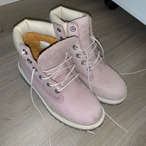 Baby Pink Mauve Timberland Boots